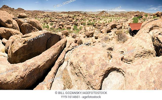 Mowani Mountain Camp Panoramic Landscape Composite Image - Twyfelfontein, Damaraland, Namibia, Africa