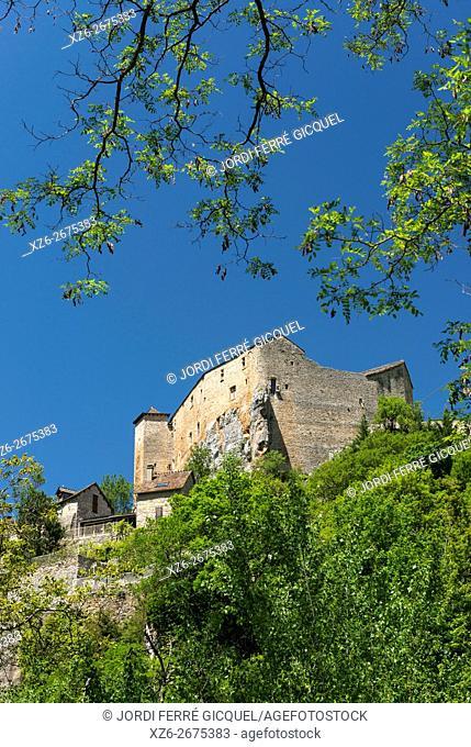 Castle of Prades in les Gorges du Tarn, Lozère 48, région Languedoc-Roussillon-Midi-Pyrénées, France, Europe