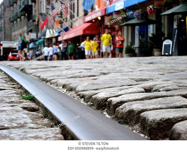 Travelling down the cobblestone path