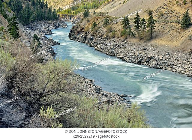 Thompson River Valley rapids, Highway 1 Quesnel to Hope, British Columbia, Canada