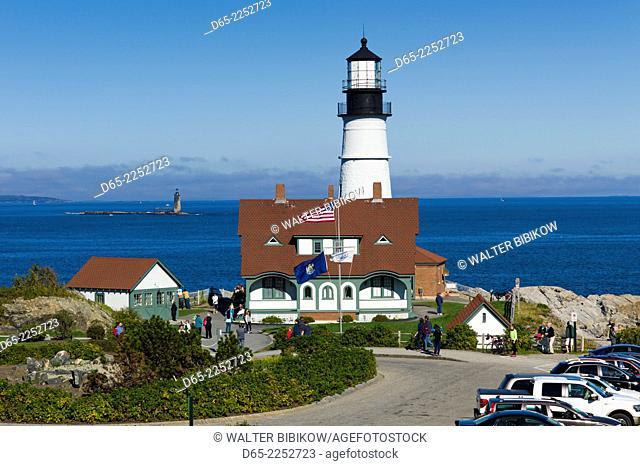 USA, Maine, South Portland, Portland Head Light, lighthouse