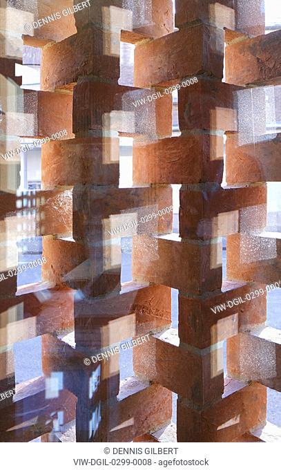 Brickwork detail. Newnham College, Cambridge, Cambridge, United Kingdom. Architect: Walters and Cohen Ltd, 2018