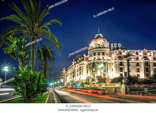 Hotel Negresco, Promenade des Anglais, Nice, Alpes Maritimes, Provence, French Riviera, Mediterranean, France, Europe