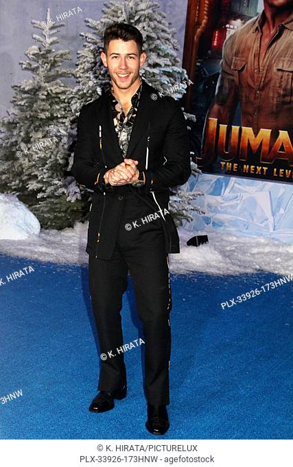 """Nick Jonas 12/09/2019 """"""""Jumanji: The Next Level"""""""" Premiere held at the TCL Chinese Theatre in Hollywood, CA. Photo by K. Hirata / HNW / PictureLux"""