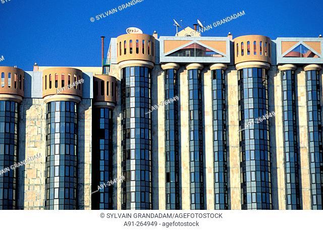 Las Amoreiras building by architect Tomas Taveira. Lisbon. Portugal