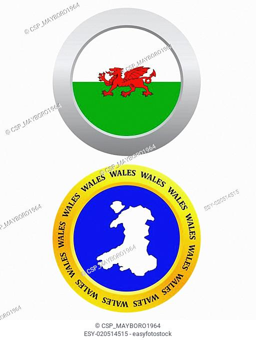 button as a symbol map WALES