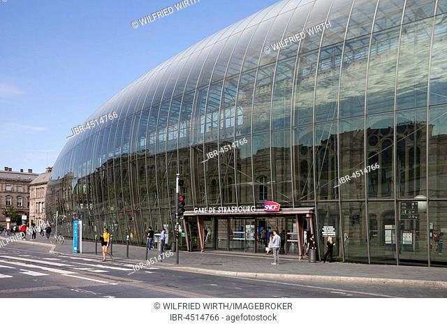 Train station SNCF, Central Station, Strasbourg, Alsace, France