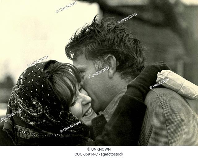 Actors Richard Burton and Claire Bloom in a scene from the film The Spy Who Came in from the Cold , UK 1963