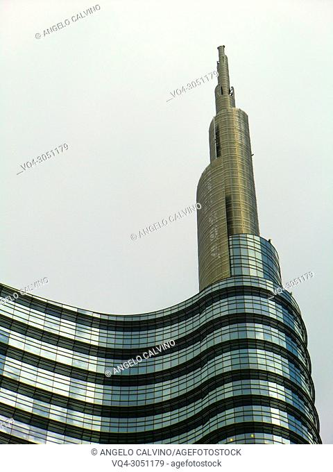 Unicredit Tower, Piazza Gae Aulenti, Milano, Milan, Lombardy, Italy, Europe