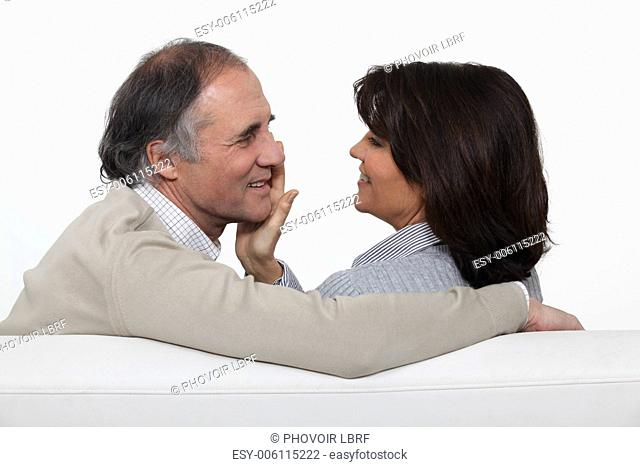 portrait of middleaged couple in love