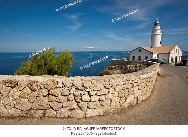 Faro de Capdepera. Comarca de llevant. Mallorca. Balearic Islands. Spain