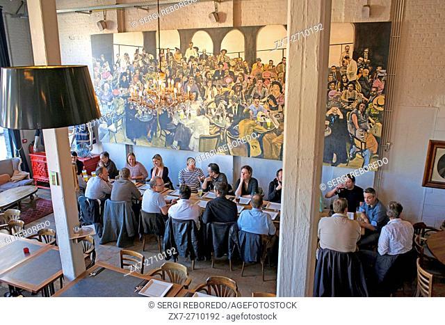 Inside Gruut beer factory in Gentse Stadsbrouwerij, Ghent, Belgium