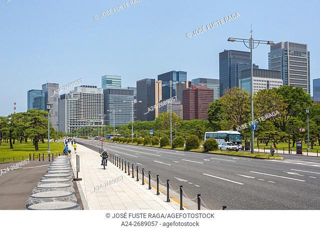 Japan, Tokyo City, Marunouchi Financial District Skyline