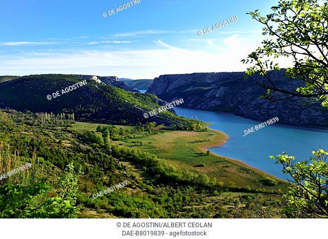 Krka River near Roski Slap, Krka National Park, Croatia