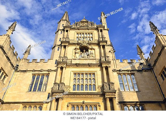 The Bodleian library, Oxford, England, United Kingdom