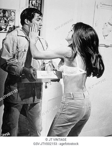 Dustin Hoffman and Katherine Ross, On-Set of the Film, The Graduate, 1967