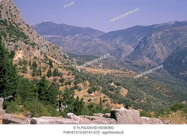 Greece View from Delphi - August 1970 S