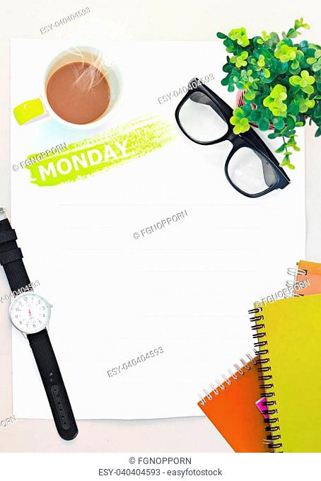diary set for week ,modern design background