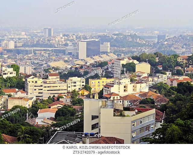 Brazil, City of Rio de Janeiro, View from the Santa Teresa hills