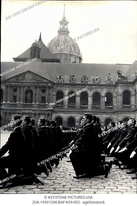 Dec. 06, 1959 - 'Kneel Down, Men! Stand Up, Officers!': The Traditional Ceremony Of Christening Of The New Promotion Of Saint-Cyr Cadets Was Held In The Court...