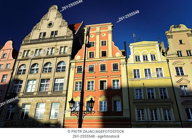 Buildings at Market Square in Wroclaw, Poland
