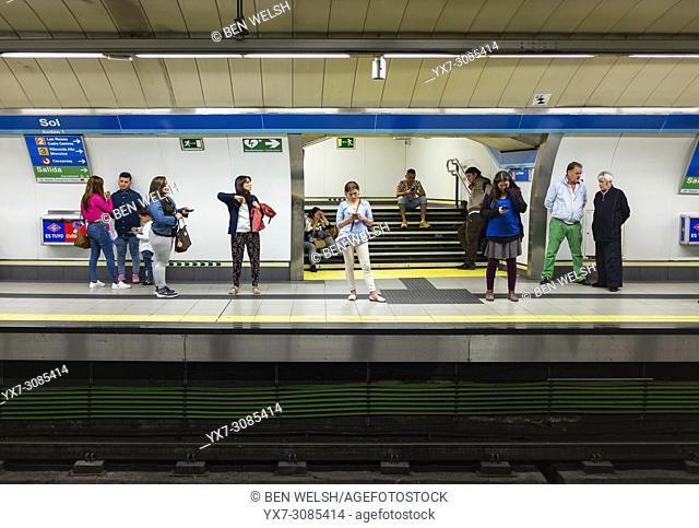 Madrid metro, Madrid, Spain, Europe
