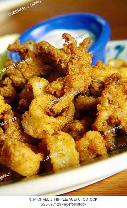 Fried squid appetizer