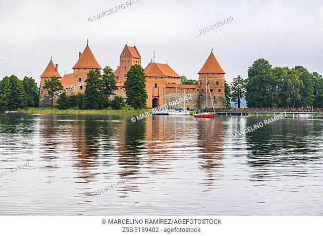 Trakai Island Castle. Trakai, Vilnius County, Lithuania, Baltic states, Europe