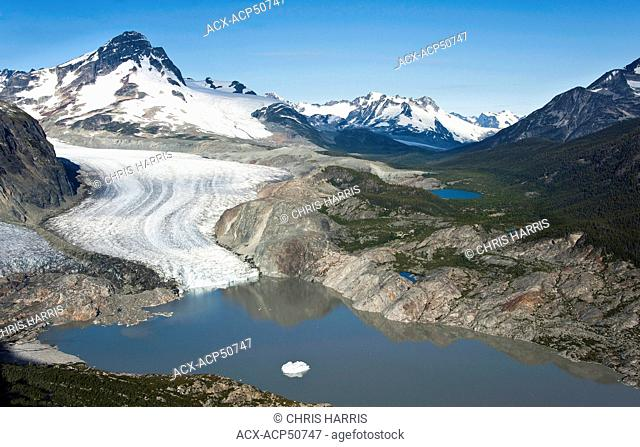 Aerial photography overthe west Chilcotin region of British Columbia Canada