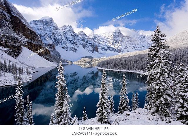Wenkchemna Peaks Ten Peaks & Moraine lake, near Lake Louise, Banff National Park, Alberta, Canada