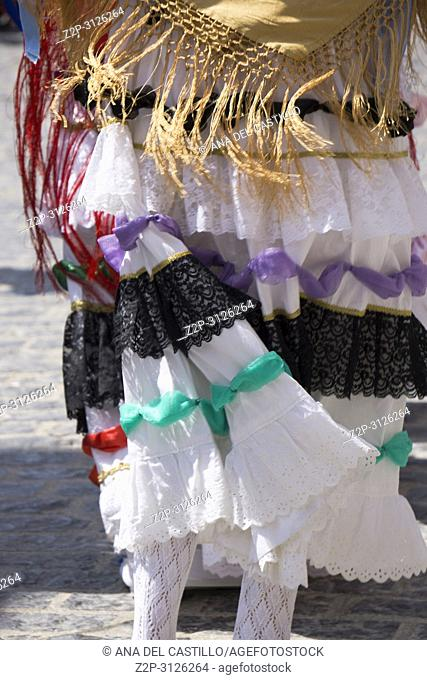 MORELLA SPAIN ON AUGUST 26, 2018: The Sexenni is one of the oldest festival in Spain, was celebrated for the first time in 1678