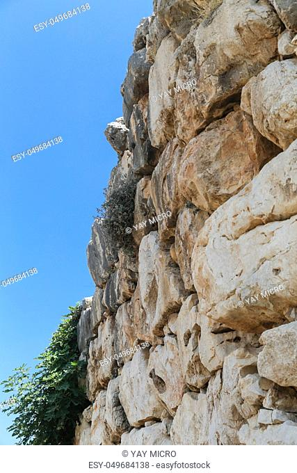 The archaeological site of Mycenae in the Peloponnese with the Lion Gate and Treasury Tombs