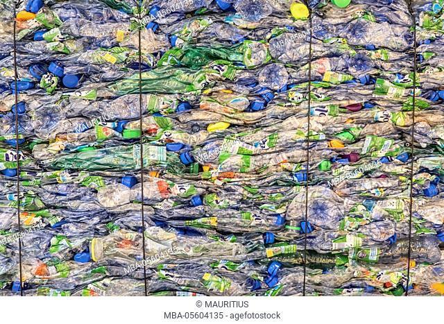 Pressed plastic waste
