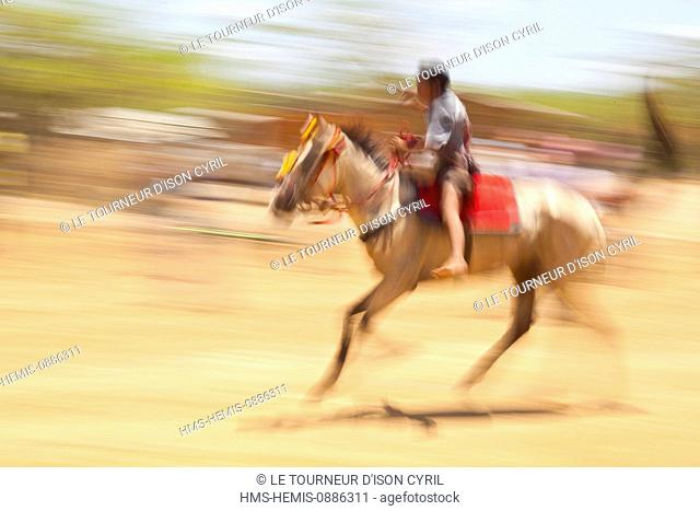 Colombia, Guajira Department, Uribia, sports trial during the cultural annual Wayuu Festival