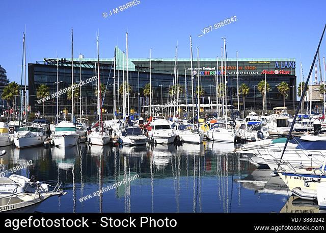 Vigo city, port. Pontevedra, Galicia, Spain