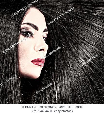 Hair. Beauty female portrait health care concept