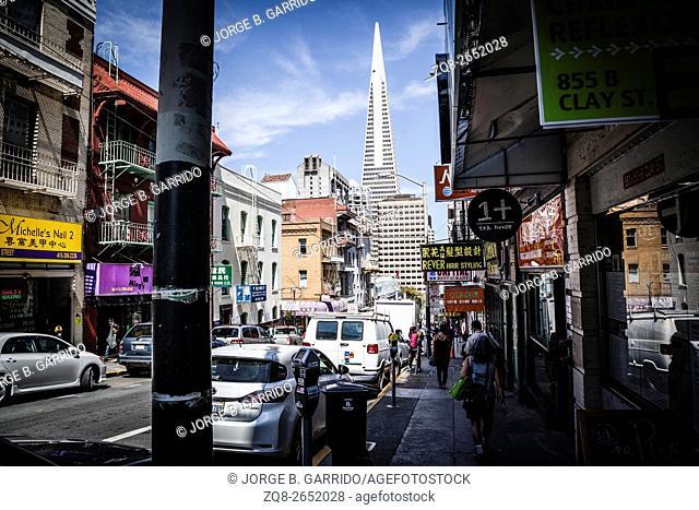 San Francisco Cityscape. Skyscrapers in a Distance