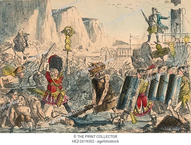 Landing of Julius Caesar, 1850. Artist: John Leech