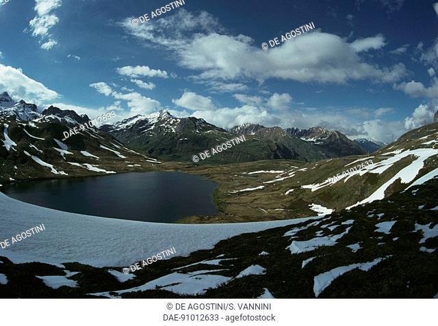 Verney lake, La Thuile valley, Aosta Valley, Italy