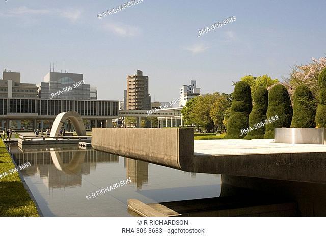 Cenotaph and Peace Museum, Hiroshima, Japan, Asia