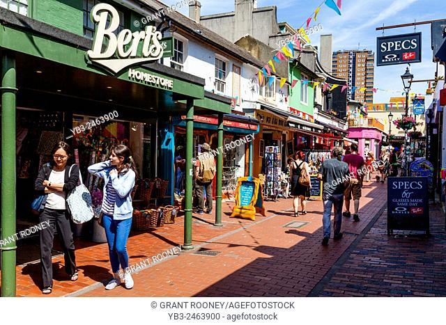 Colourful Shops, North Laine, Brighton, Sussex, UK
