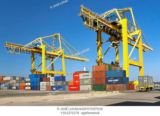 Commercial port, Algeciras, Cadiz province, Region of Andalusia, Spain, Europe