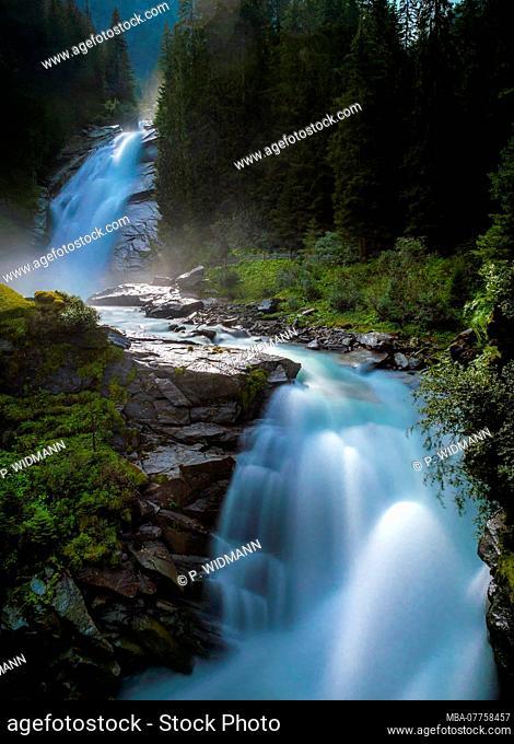 Krimml Waterfalls, High Tauern National Park, Krimml, Pinzgau region, Salzburger Land region, Salzburg (state), Austria, Europe