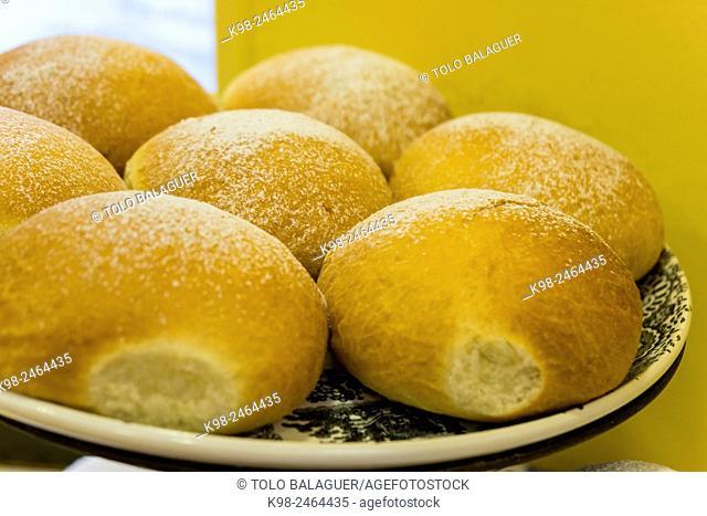 coques de patata, Fornet de la Soca, Palma, Majorca, Balearic Islands, Spain
