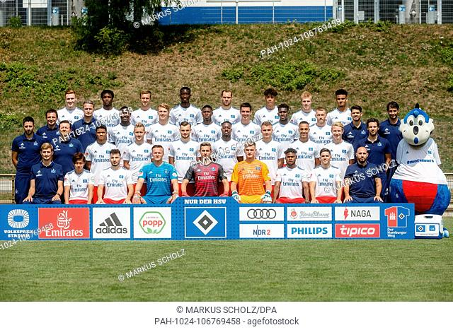 2nd German Bundesliga, official photocall Hamburger SV for season 2018/19 in Hamburg, Germany:. | usage worldwide. - Hamburg/Hamburg/Germany