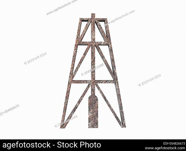stählerner Bohrturm