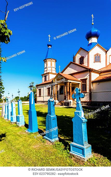 wooden Orthodox church of Saint James, Losinka, Podlaskie Voivodeship, Poland