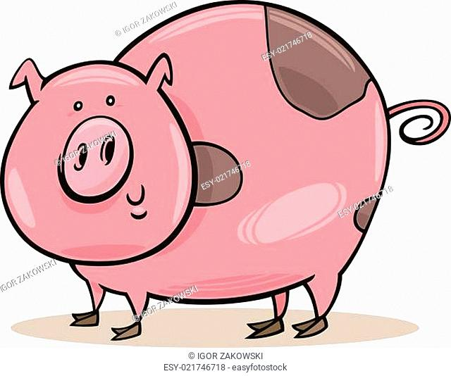 Farm animals: spotted pig