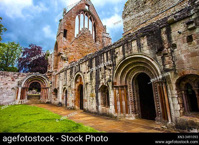 Dryburgh Abbey, Scottish Borders District, Scotland, United Kingdom, Europe