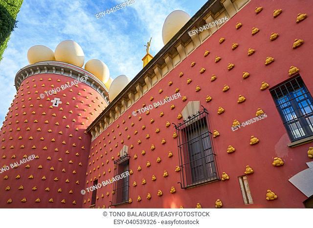 Salvador Dali museum in Figueres figueras of Catalonia Spain